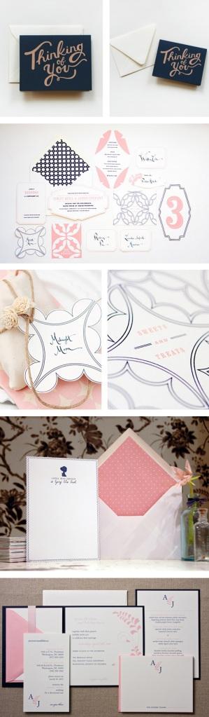 bryllupsinvitasjoner rosa