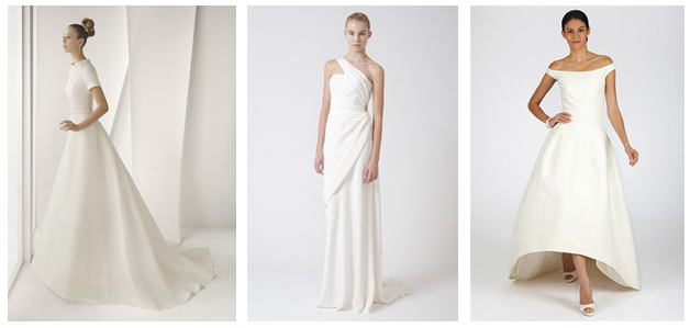 Brudekjoler minimalistisk
