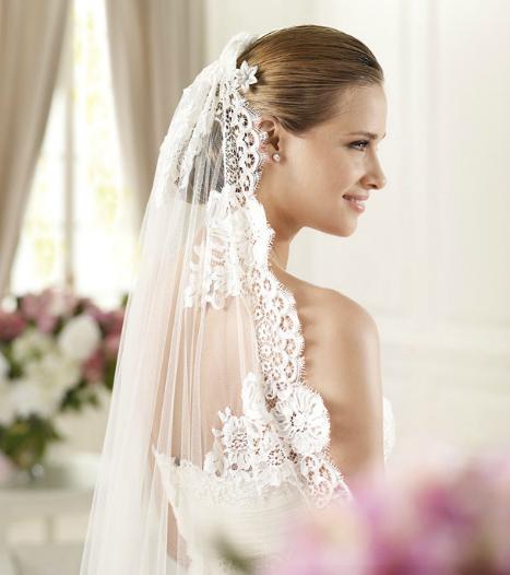 Pronovias brudekjole med blonder