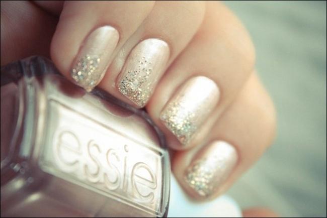 brudenegler sølv glitter