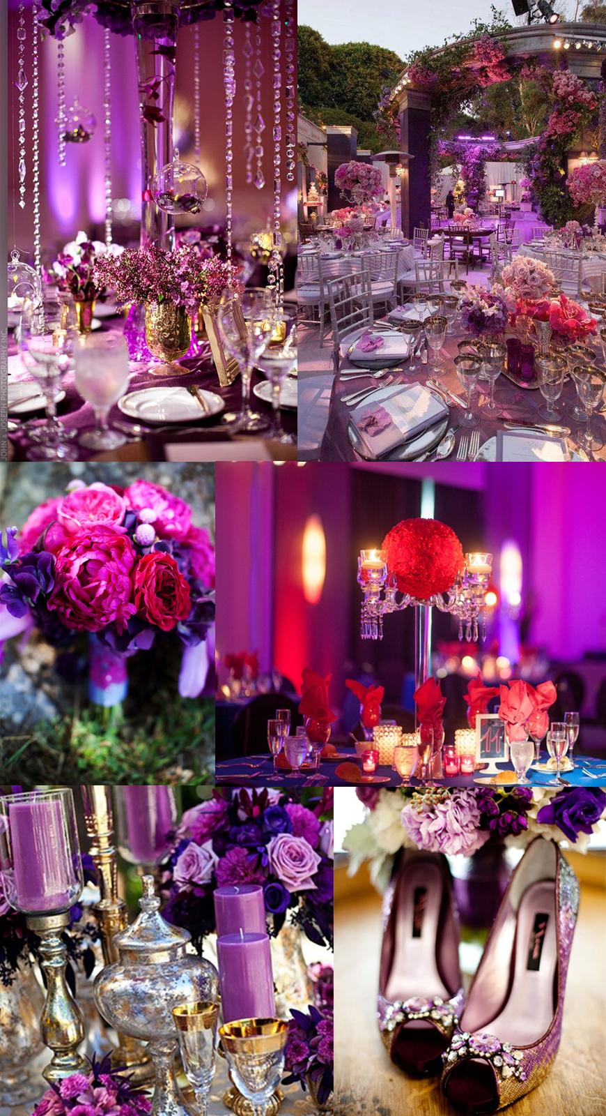 lilla rosa bryllupstema