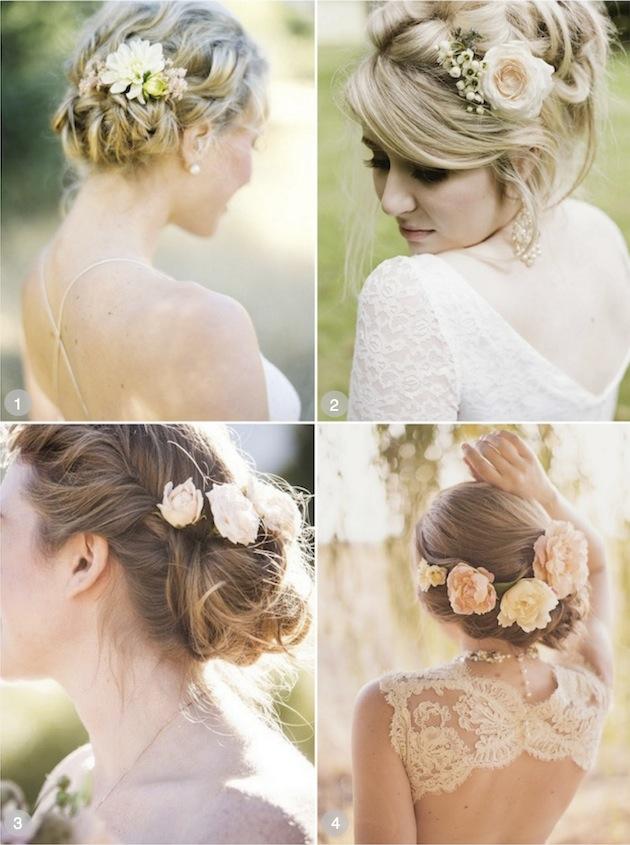 Brudehår blomster