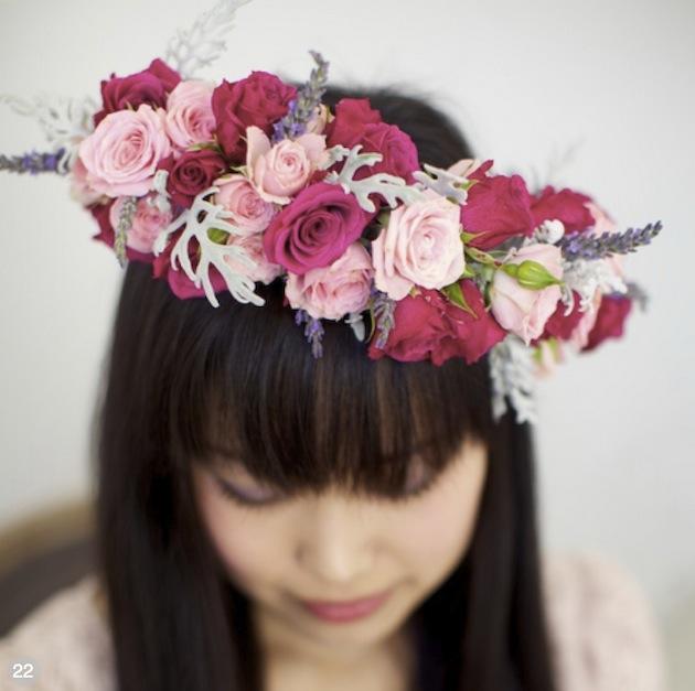Brudehår bohem blomster
