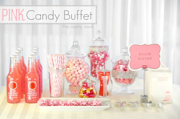 candy buffet pink