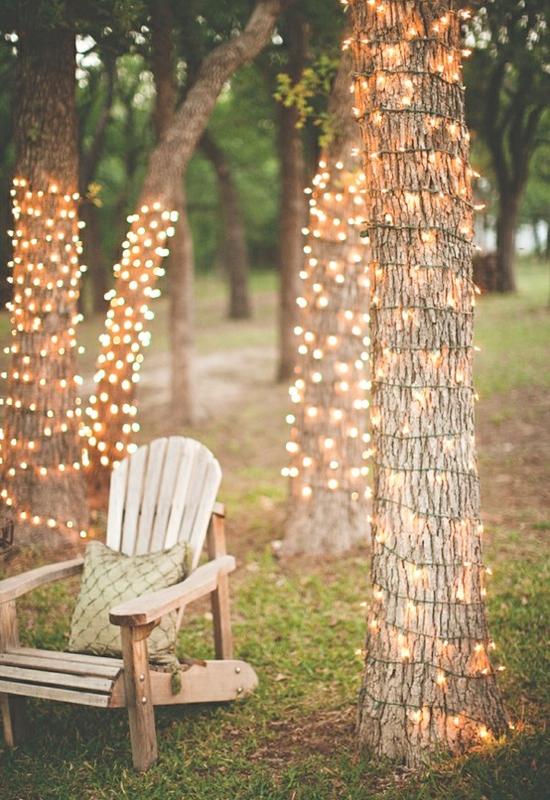 Lyskjeder bryllup