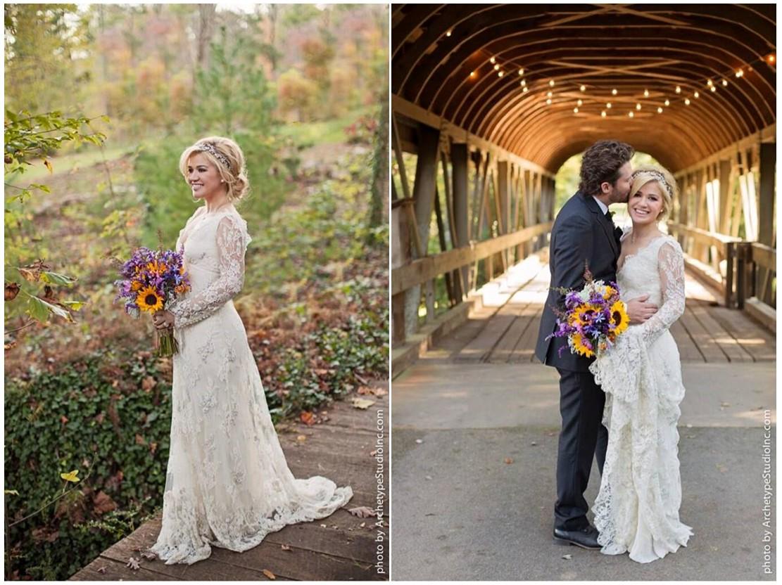 Kelly Clarkson brudekjole